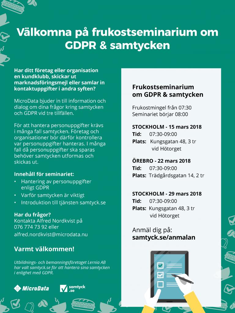 Samtyck och GDPR